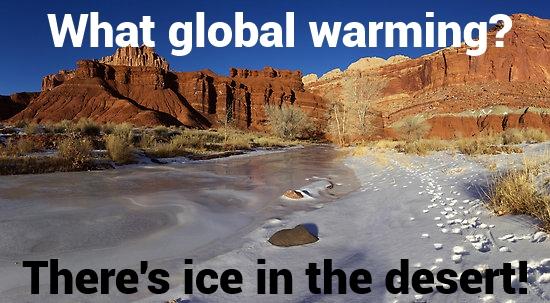 An ice covered desert