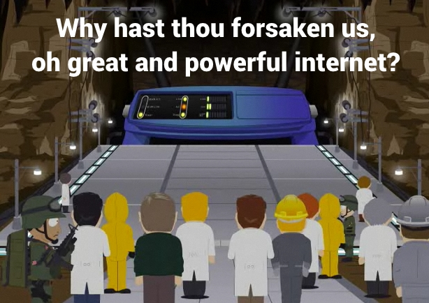 South Park citizens look on in fear, as the internet dies